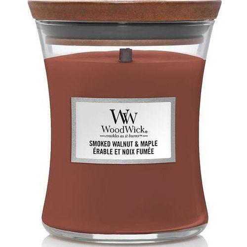 Woodwick Świeca core smoked walnut & maple średnia