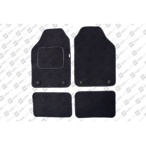 Pok-ter Komplet dywaników welurowych miarowych  czarne - audi 80 (b4) cabrio 1990-2000