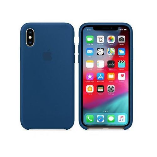 APPLE Silicone Case do iPhone XS, Blue Horizon
