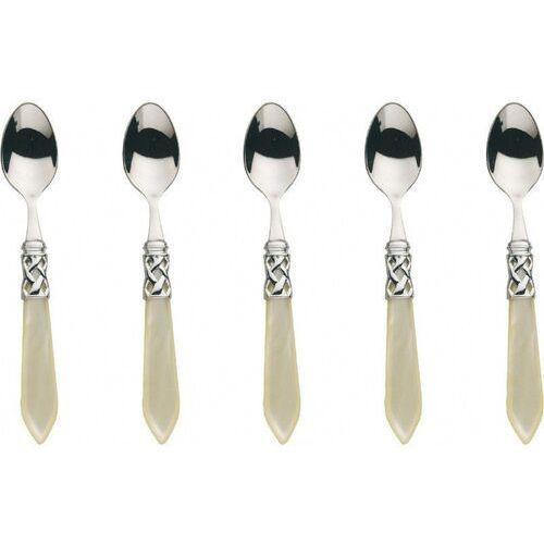 Casa Bugatti - ALADDIN - Komplet 6 łyżeczek do moka - perłowa kość słoniowa