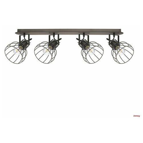 Lampa sufitowa Sambatello, 4-punktowa, kolor Brązowy