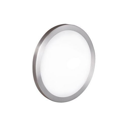 Eglo Plafon arezzo 87328 lampa sufitowa ścienna 1x60w e27 nikiel mat / biały (9002759873288)