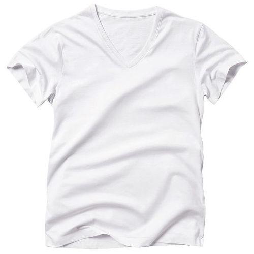 R édition T-shirt gładki, dekolt w serek, krótki rękaw