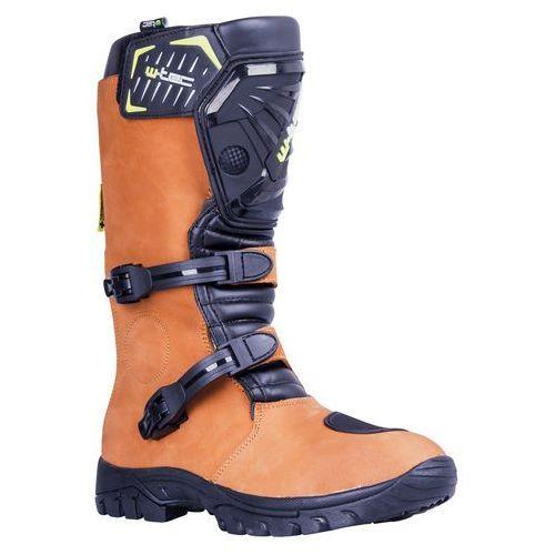 Skórzane buty motocyklowe enduro W-TEC MX-1, Brown, 41 (8596084055163)