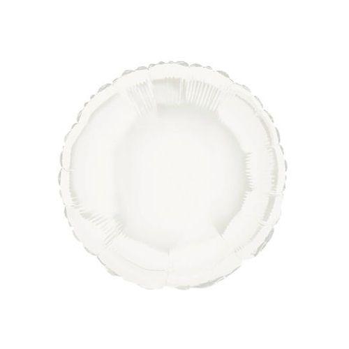 Balon foliowy okrągły biały - 47 cm - 1 szt.