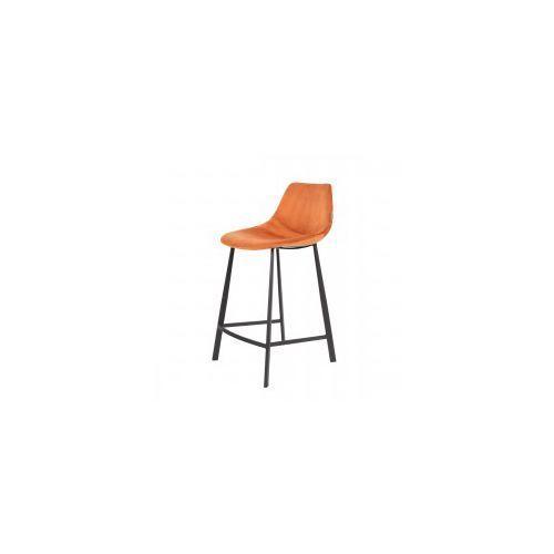 Krzesło barowe FRANKY velvet pomarańczowe - Dutchb