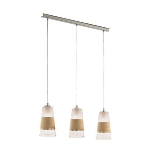 Eglo Lampa wisząca burnham 49152 lampa sufitowa 3x60w e27 nikiel mat