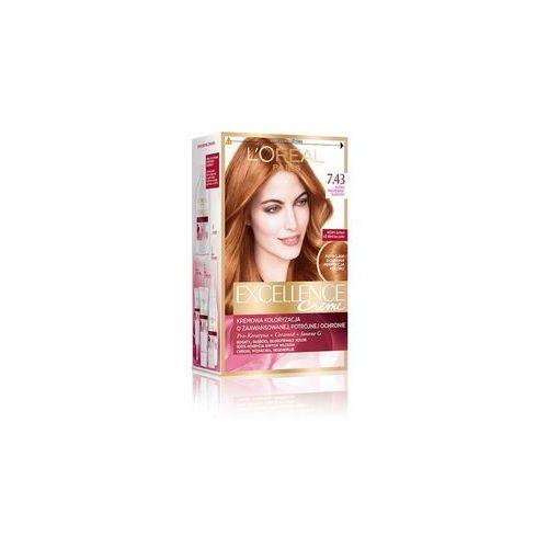 Excellence Creme farba do włosów 7.43 Blond Miedziano-Złocisty - L'Oreal Paris, 3600010023678