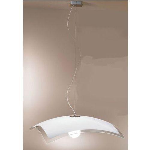 Linea light Lampa wisząca mille biały- nikiel 600 1 x e27 żarówka led gratis!, 1018