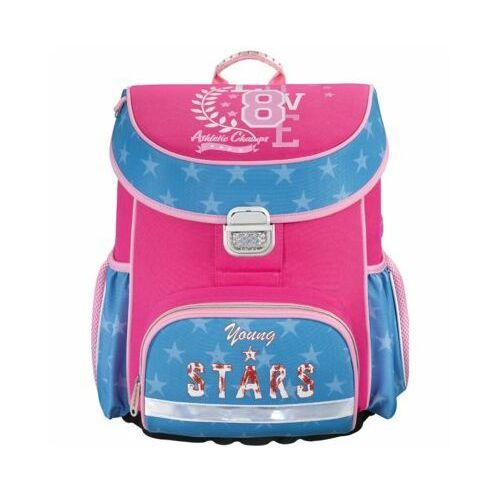 Hama tornister / plecak szkolny dla dzieci / Young & Stars - Young & Stars, kolor różowy