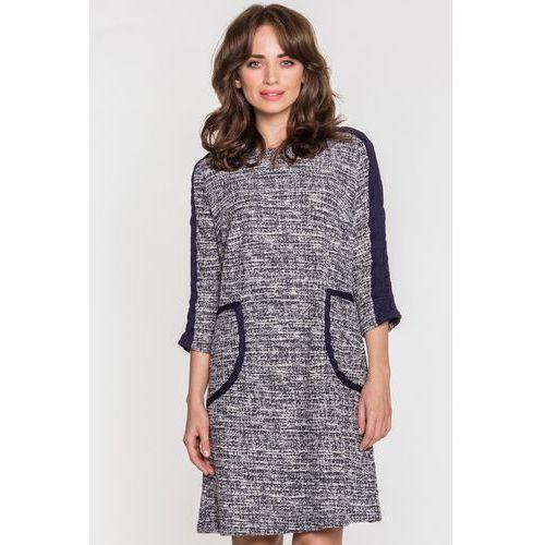 Sukienka w szarym melanżu - marki Margo collection