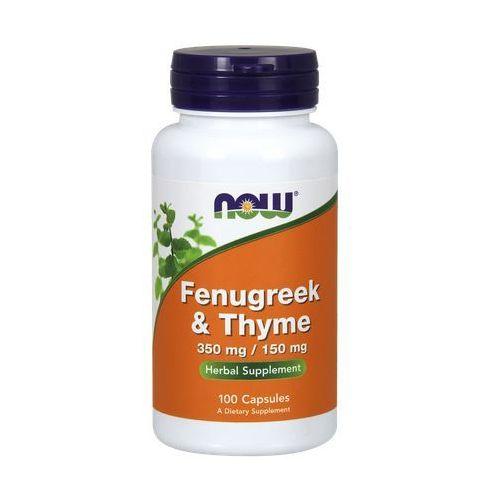 Now Foods Fenugreek & Thyme (Kozieradka 350mg & Tymianek 150mg) 100 kaps., produkt z kategorii- Pozostałe leki i suplementy