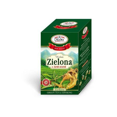 herbata zielona z żeń-szeniem 20 kopert marki Malwa tea