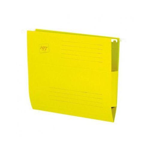 Teczki zawieszane z bocznymi zabezpieczeniami, żółte, 50 szt. marki Hit office