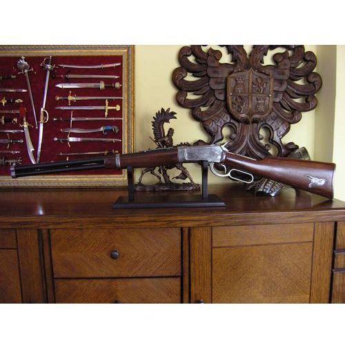 Srebrna strzelba winchester z głową bizona (k1063p) marki Hiszpania