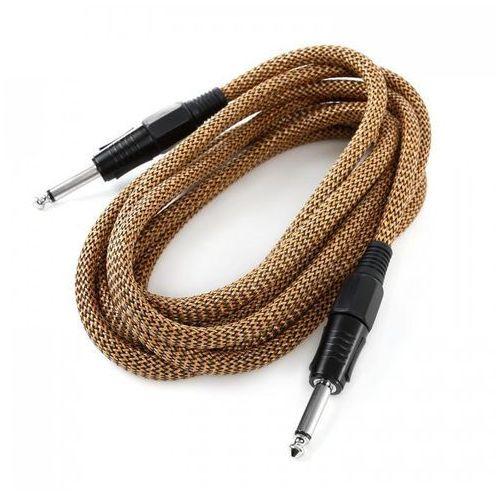 Frontstage 3x kabel jack 6,35 mm 3m w oplocie tekstylnym mono złoto-czarny