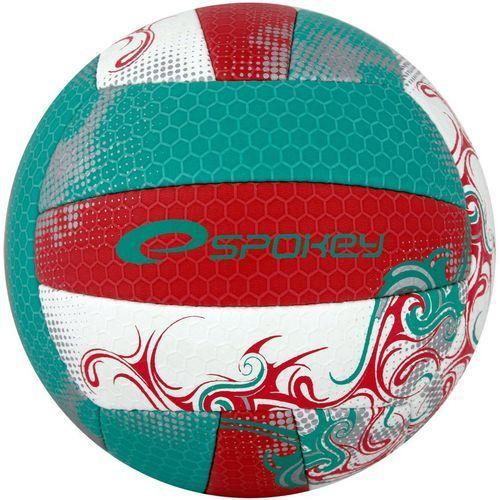 Piłka siatkowa SPOKEY Eos Czerwono-Zielony (rozmiar 5) (5901180373883)