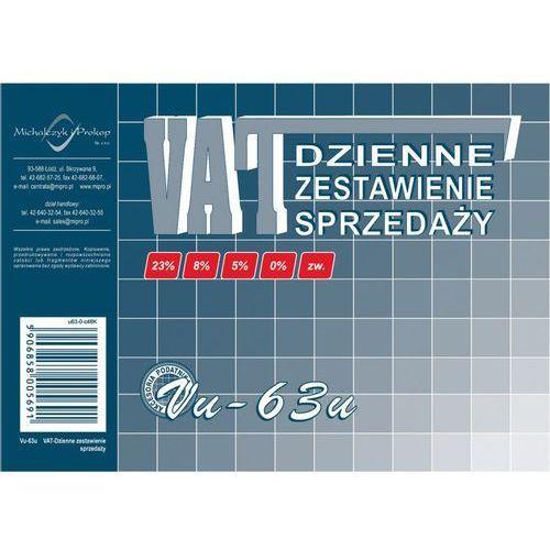Dzienne zestawienie sprzedaży VAT Vu-63 - Michalczyk i Prokop