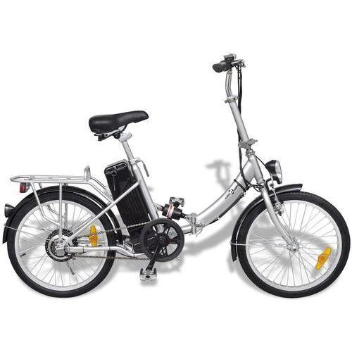 Vidaxl rower elektryczny składany z akumulatorem litowo-jonowym aluminium (8718475914822)