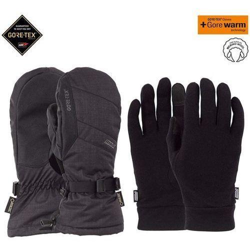 - warner gtx long mitt + warm black (bk) rozmiar: l, Pow