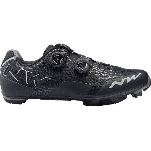 Northwave rebel buty mężczyźni szary/czarny 41 2018 buty mtb zatrzaskowe