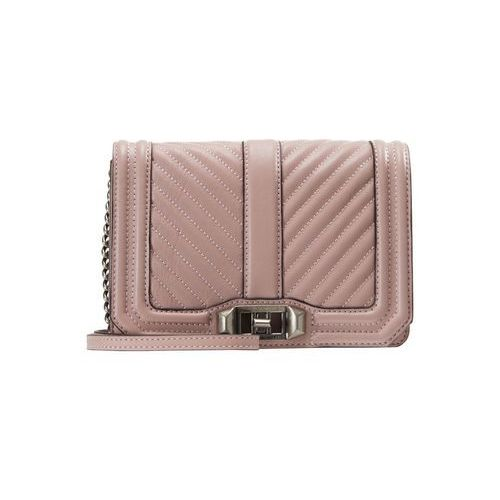 Rebecca Minkoff CHEVRON QUILTED SMALL LOVE Torba na ramię vintage pink, kolor różowy