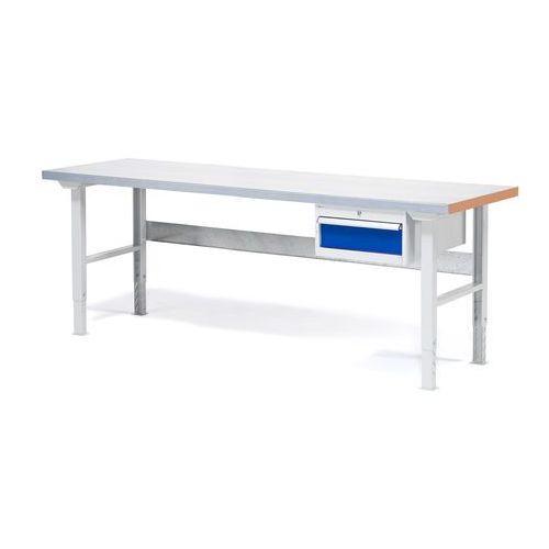 Stół warsztatowy solid, z szufladą, 750 kg, 2000x800 mm, stal marki Aj produkty