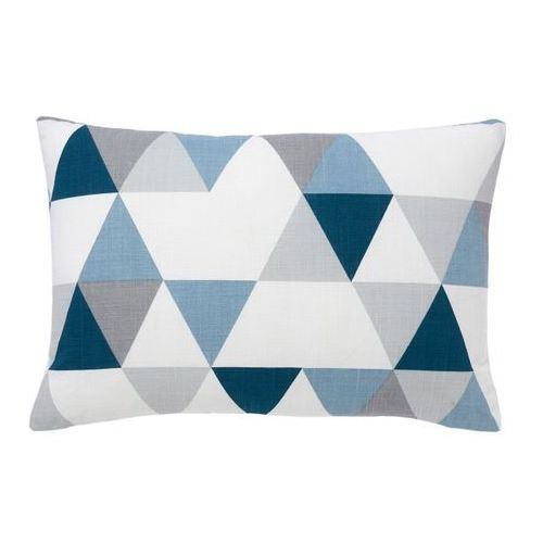 Goodhome Poduszka rima 40 x 60 cm niebieska