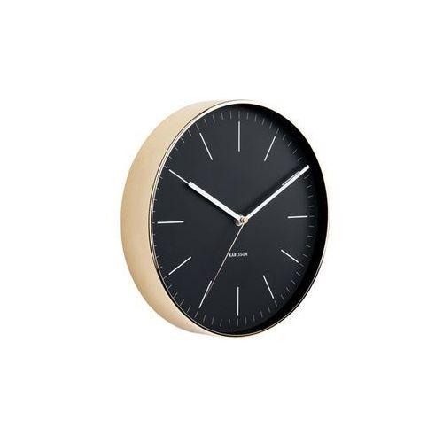Zegar ścienny Minimal black/gold by Karlsson, KA5695BK