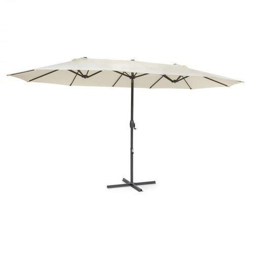 Blumfeldt twin peaks, parasol przeciwsłoneczny, poliester, uv50, niewodochłonny, kremowy (4060656229459)