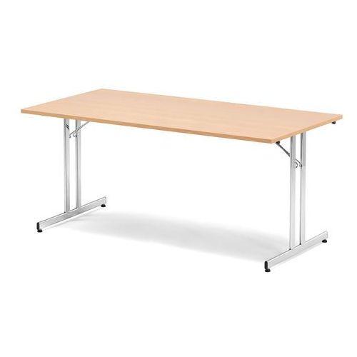 Stół konferencyjny EMILY, składany, 1800x800x720 mm, buk, chrom, 143401