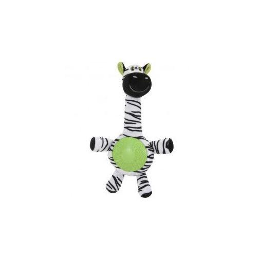 Zebra z dźwiękiem - pluszowo - gumowa zabawka dla psa ZOLUX - 32 cm