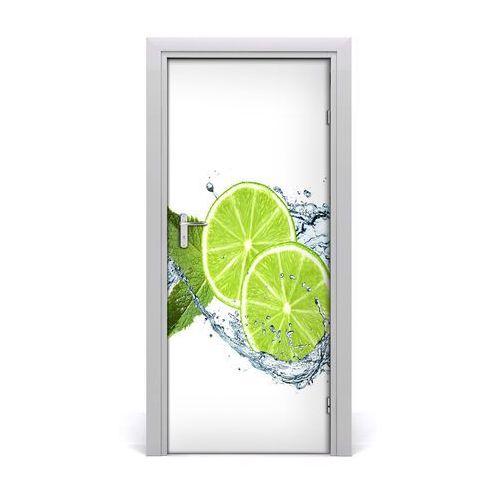Okleina samoprzylepna fototapety na drzwi limonki marki Tulup.pl
