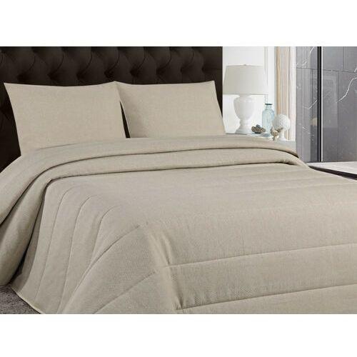 Vente-unique Pikowana narzuta na łóżko perigord 230 × 250 cm i 2 poszewki 60 × 60 cm – kolor taupe