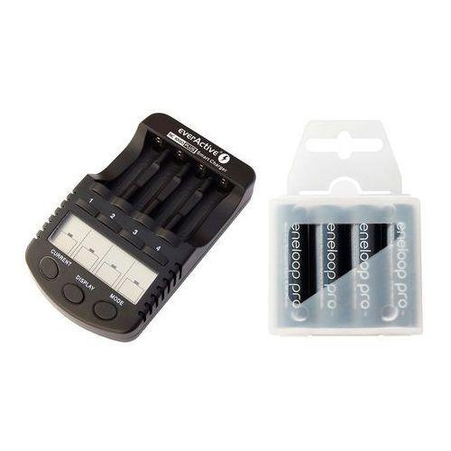 Ładowarka  nc-1000 plus + 4 x r6/aa panasonic eneloop pro 2550 (box) marki Everactive