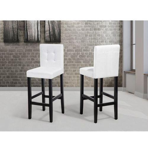 Beliani Hoker biały - krzesło - do jadalni - do kuchni - tapicerowany - madison (7081454084672)