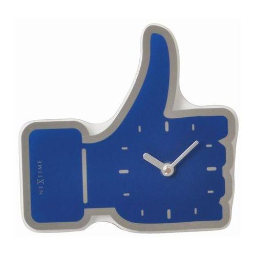 Nextime - zegar ścienny thumbs up mini 23 cm - niebieski