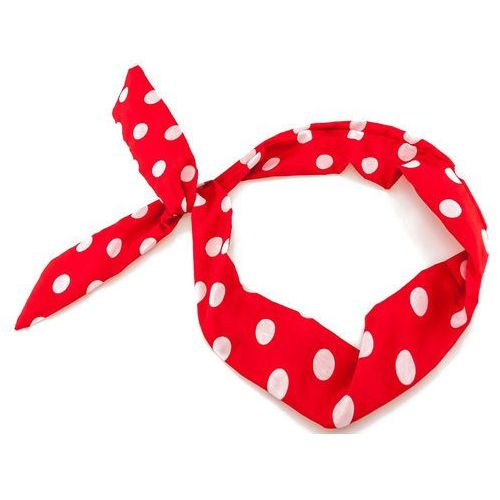 OPASKA NA TOPIE PIN UP czerwona Duża kropka 1,1 cm - red-white