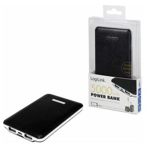 Power bank  pa0125b 5.000 mah, czarny, 2 porty usb marki Logilink