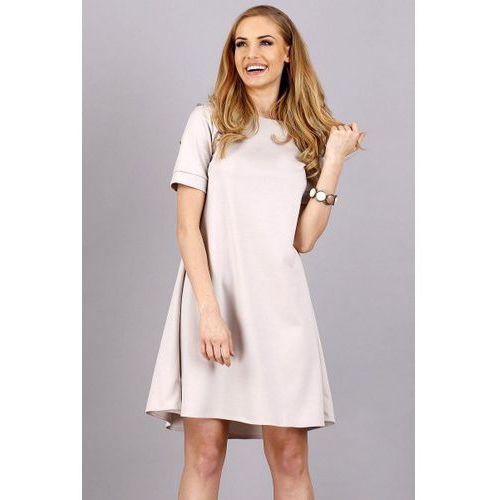 Makadamia M36 sukienka, kolor beige