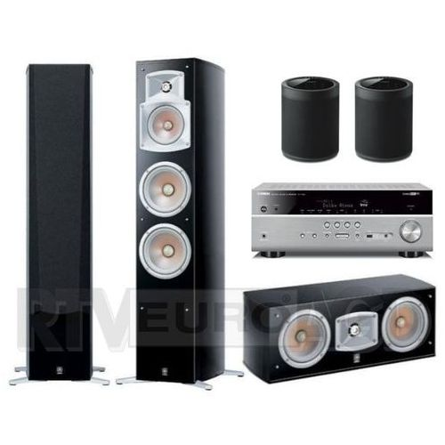 Yamaha musiccast rx-v685 (tytanowy), ns-555/ns-c444/ 2x wx-021 (czarny)