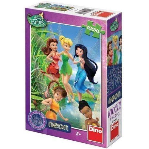 Dino toys Puzzle 100 xl neon wróżki dino