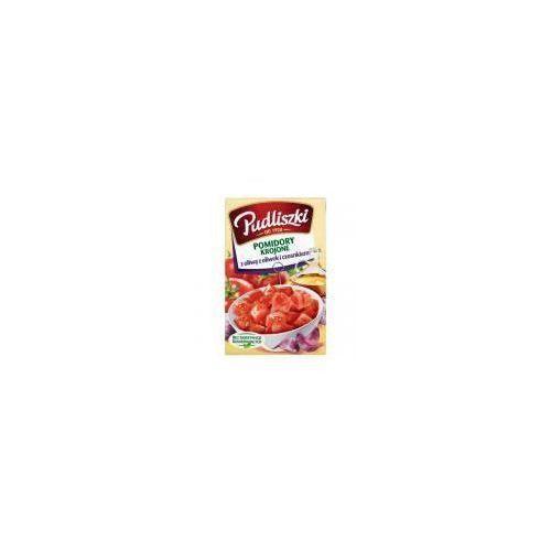 Pudliszki Pomidory krojone z czosnkiem i oliwą z oliwek 400g