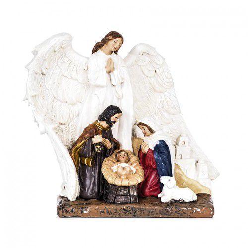 Figura Święta Rodzina z Aniołem - Boże Narodzenie