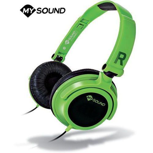 Słuchawki z mikrofonem Meliconi Speak Smart Fluo Zielone (497436BA) Darmowy odbiór w 21 miastach!