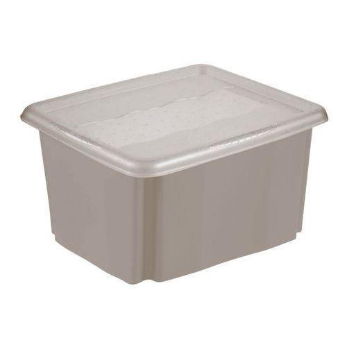 Keeeper Pojemnik obrotowy emil z pokrywką 24 l szary (4052396049039)