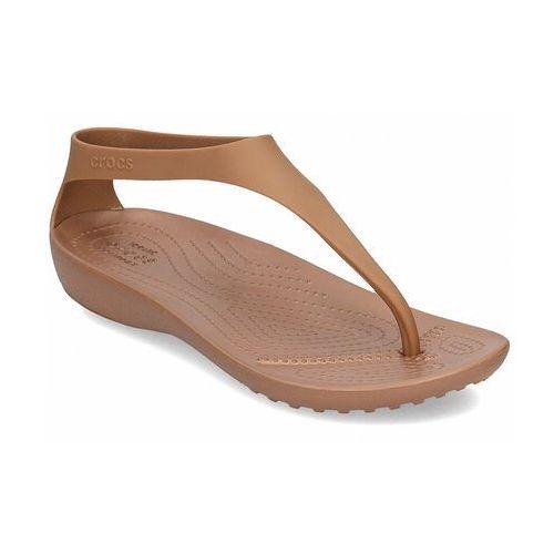 Sandały damskie japonki serena flip sexi brązowe marki Crocs