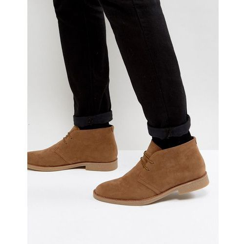 New Look Faux Suede Desert Boots In Tan - Stone