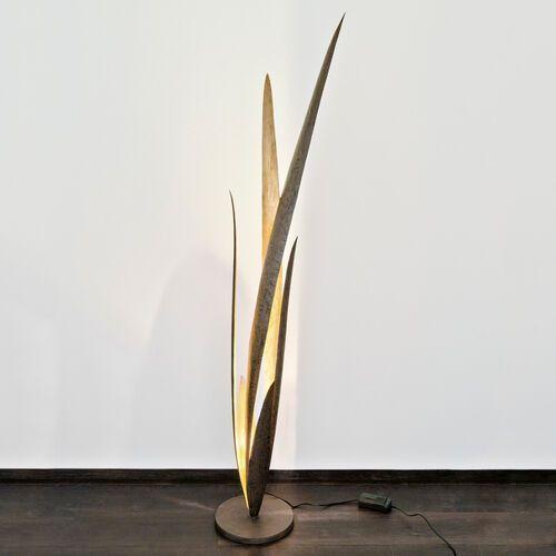 Holländer PALUSTRE lampa podłogowa Czarny, Brązowy, Złoty, 1-punktowy - Klasyczny - Obszar wewnętrzny - PALUSTRE - Czas dostawy: od 2-3 tygodni (4250151337067)