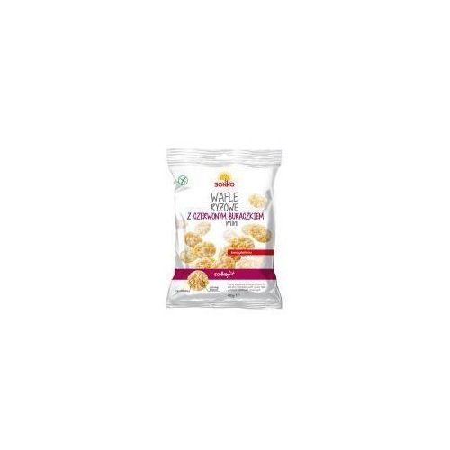 Wafle ryżowe mini z czerwonym buraczkiem 40 g Sonko